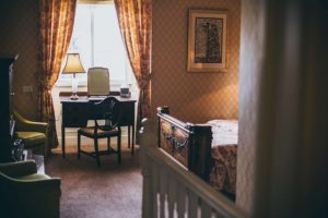 The Baldwin Room at Rowton Castle's Shropshire Accommodation